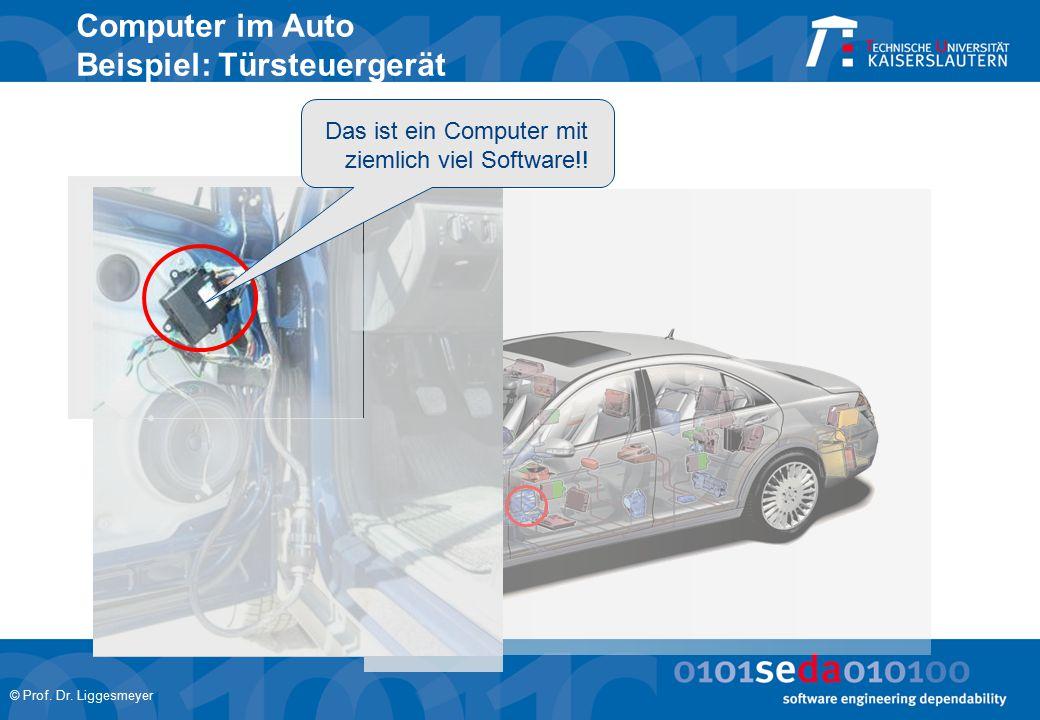© Prof. Dr. Liggesmeyer Computer im Auto Beispiel: Türsteuergerät Das ist ein Computer mit ziemlich viel Software!!