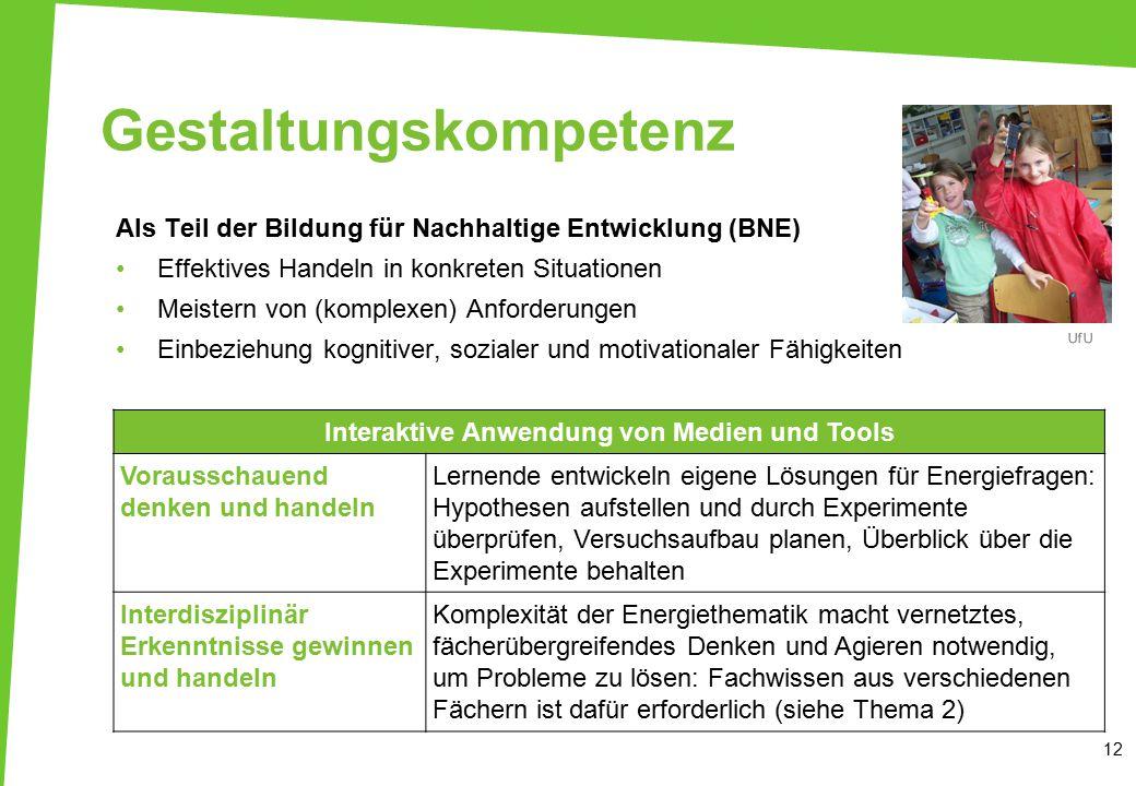 Gestaltungskompetenz Als Teil der Bildung für Nachhaltige Entwicklung (BNE) Effektives Handeln in konkreten Situationen Meistern von (komplexen) Anfor