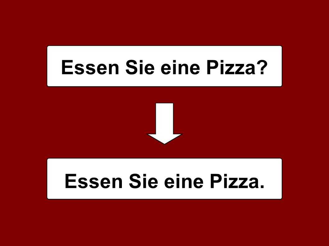 Essen Sie eine Pizza Essen Sie eine Pizza.