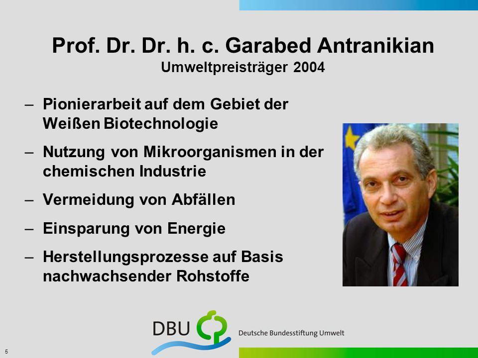 6 Hermann Josef Schulte Umweltpreisträger 2003 –Entwicklung eines innovativen Partikelfilters für Dieselmotoren –Emissionsreduktion fester Schadstoff- bestandteile um über 95%