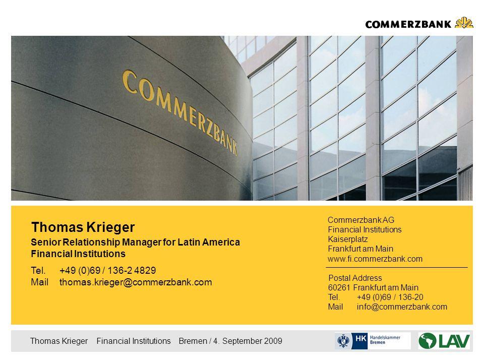 Thomas Krieger  Financial Institutions  Bremen / 4.