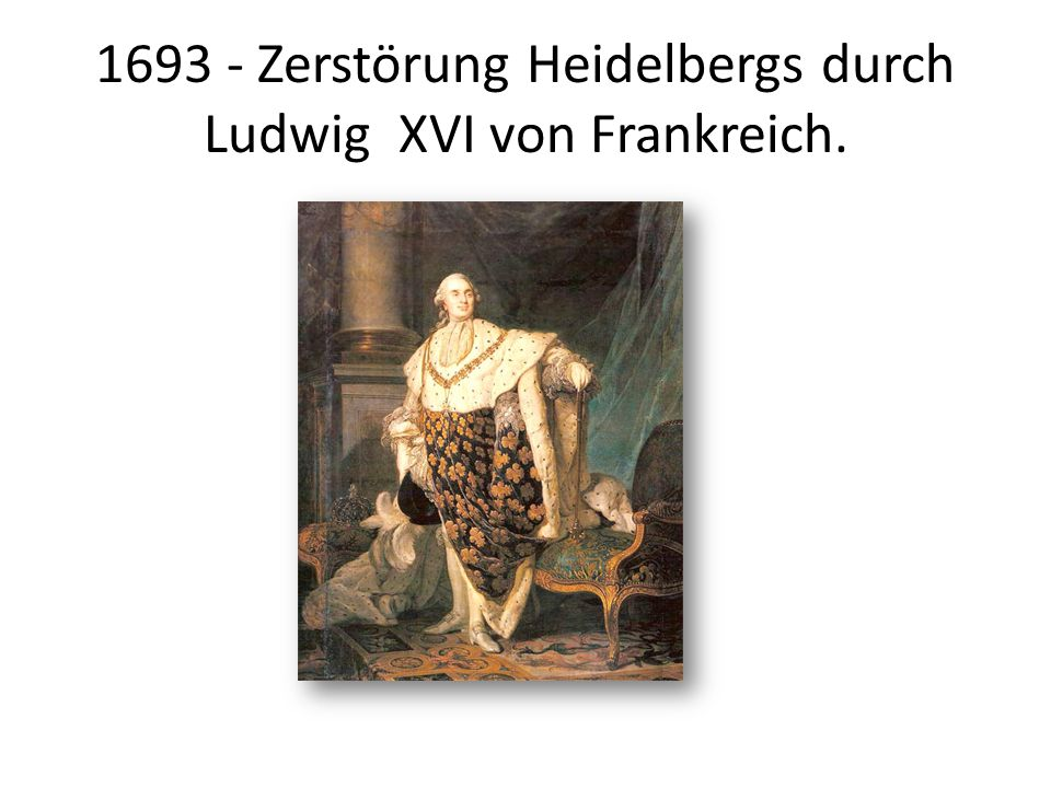 1751 - Das Grosse Fass wird gebaut.