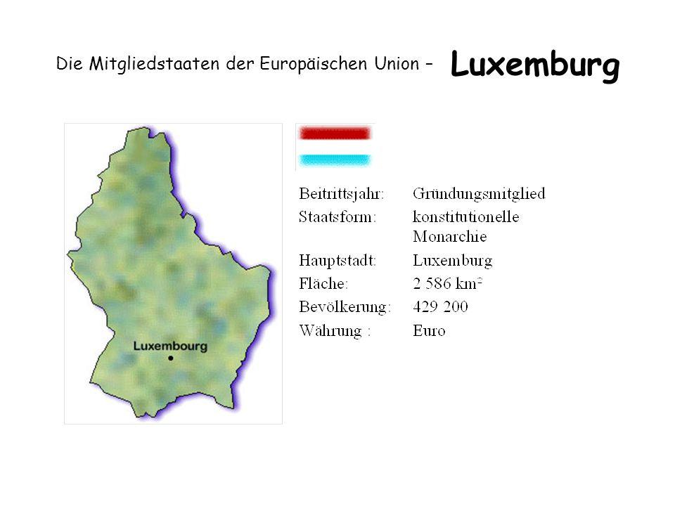 Die Mitgliedstaaten der Europäischen Union – Luxemburg