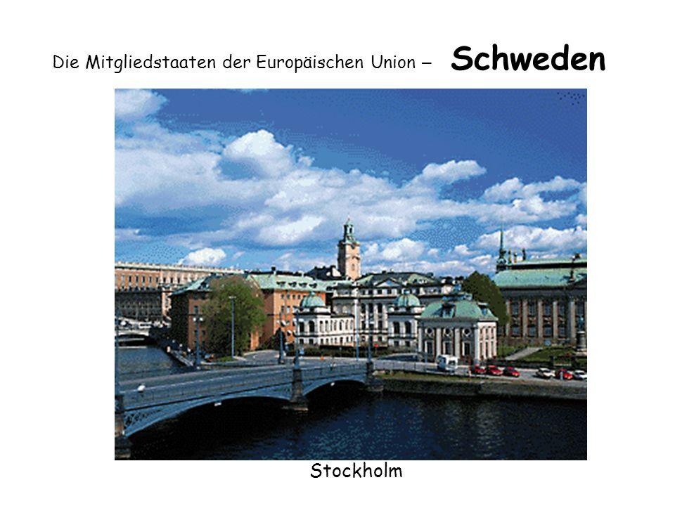 Die Mitgliedstaaten der Europäischen Union – Schweden Stockholm