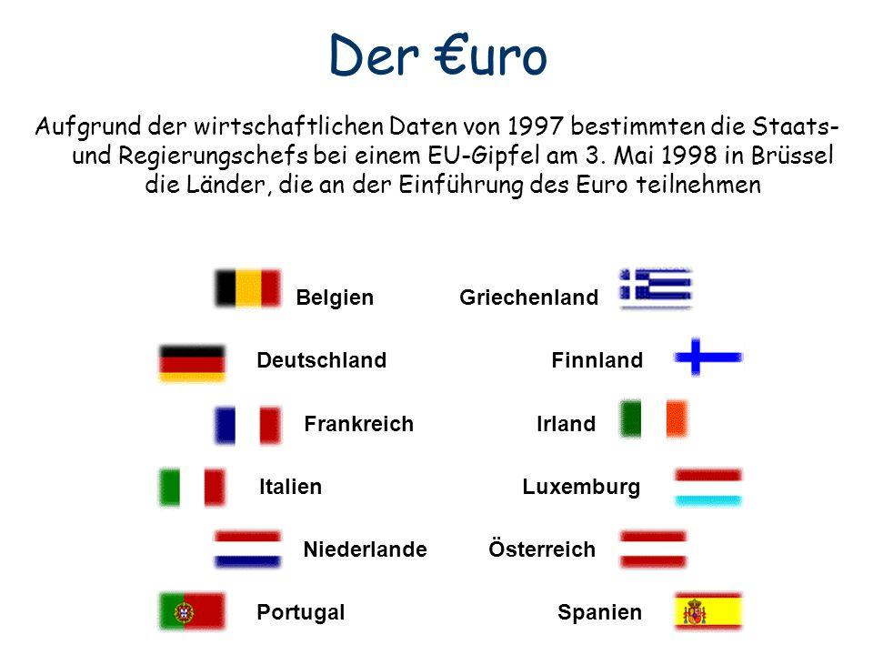 Belgien Griechenland Deutschland Finnland Frankreich Irland Italien Luxemburg Niederlande Österreich Portugal Spanien Aufgrund der wirtschaftlichen Da