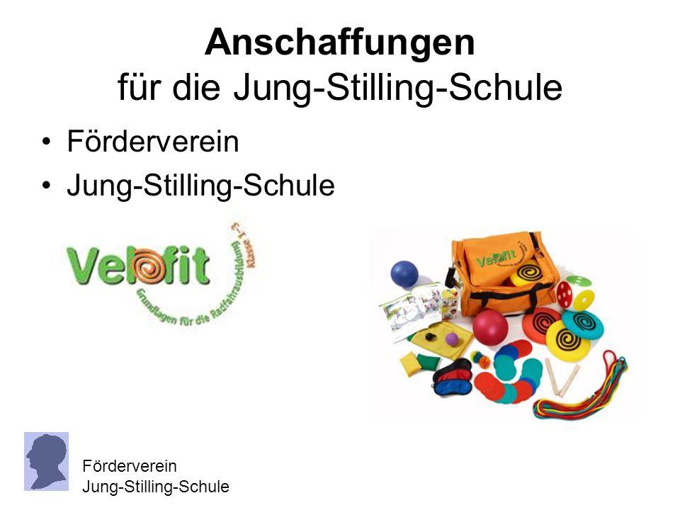Anschaffungen für die Jung-Stilling-Schule Förderverein Jung-Stilling-Schule Förderverein Jung-Stilling-Schule