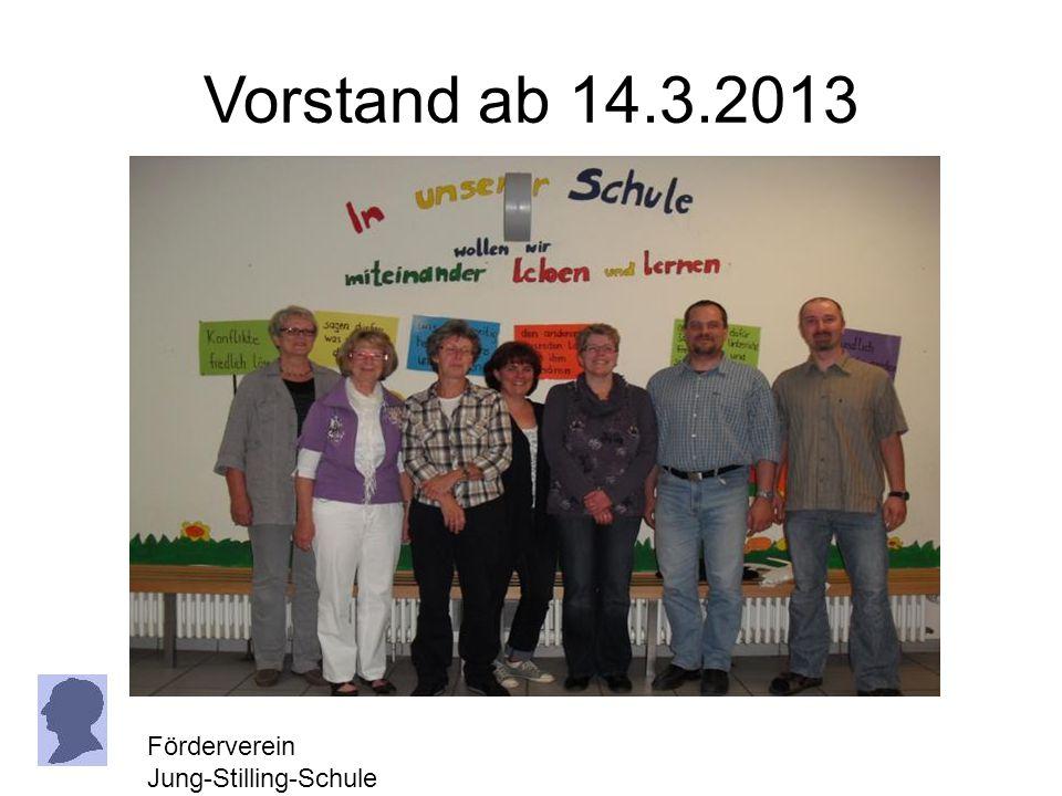 Vorstand ab 14.3.2013 Förderverein Jung-Stilling-Schule