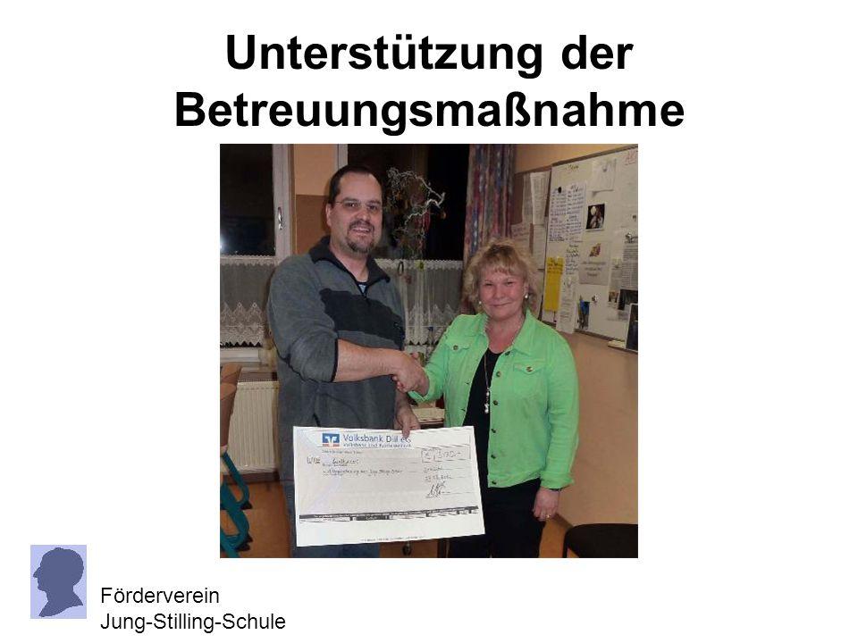 Unterstützung der Betreuungsmaßnahme Förderverein Jung-Stilling-Schule