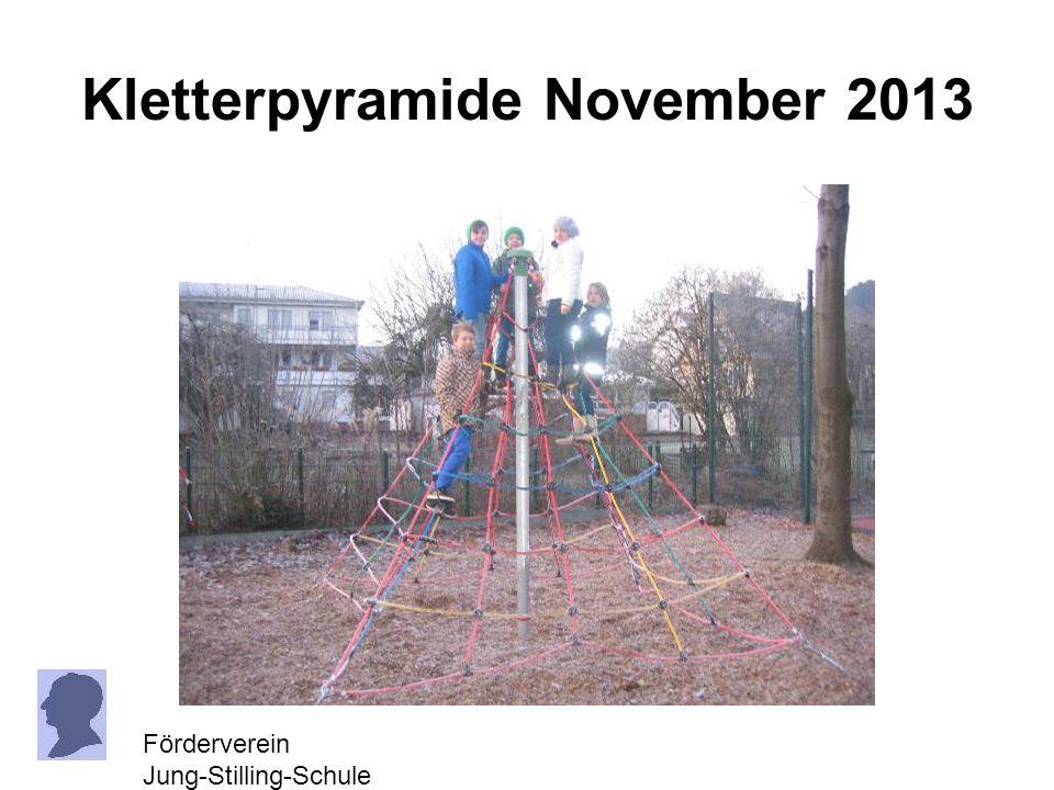 Kletterpyramide November 2013 Förderverein Jung-Stilling-Schule