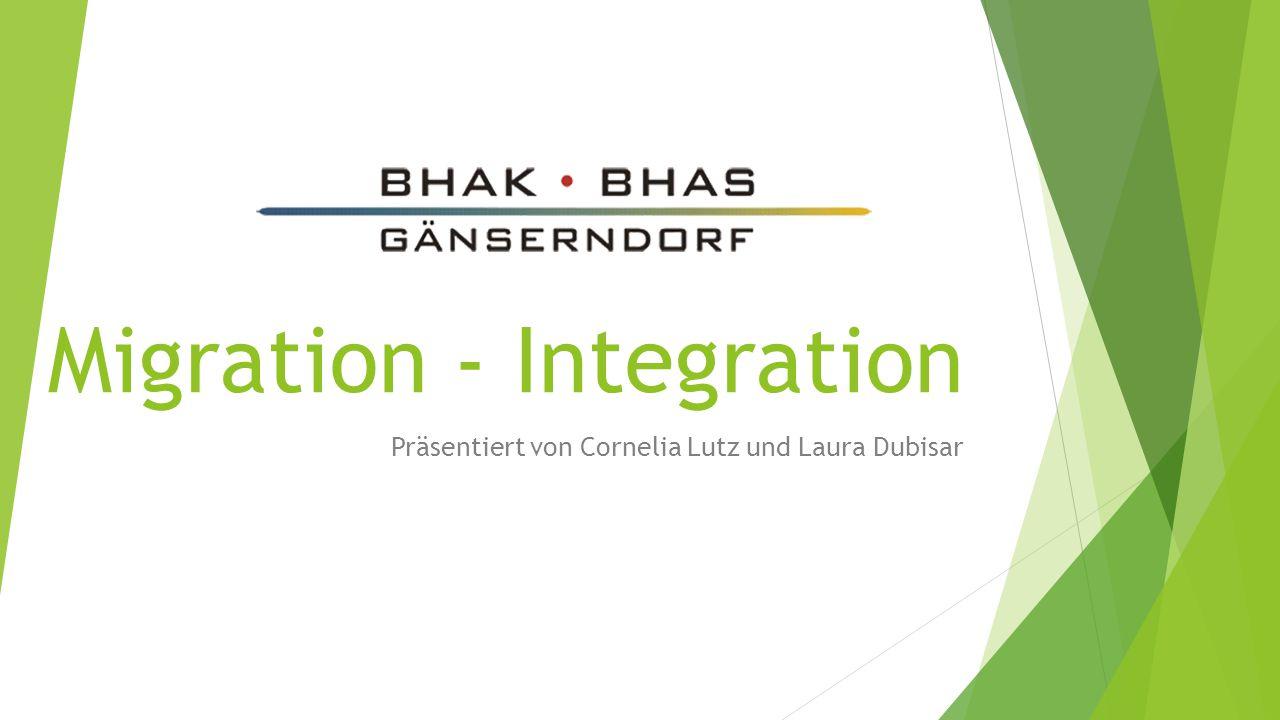 Präsentiert von Cornelia Lutz und Laura Dubisar Migration - Integration