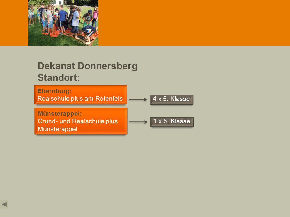 Dekanat Donnersberg Standort: Obermoschel Ebernburg: Realschule plus am Rotenfels 4 x 5.