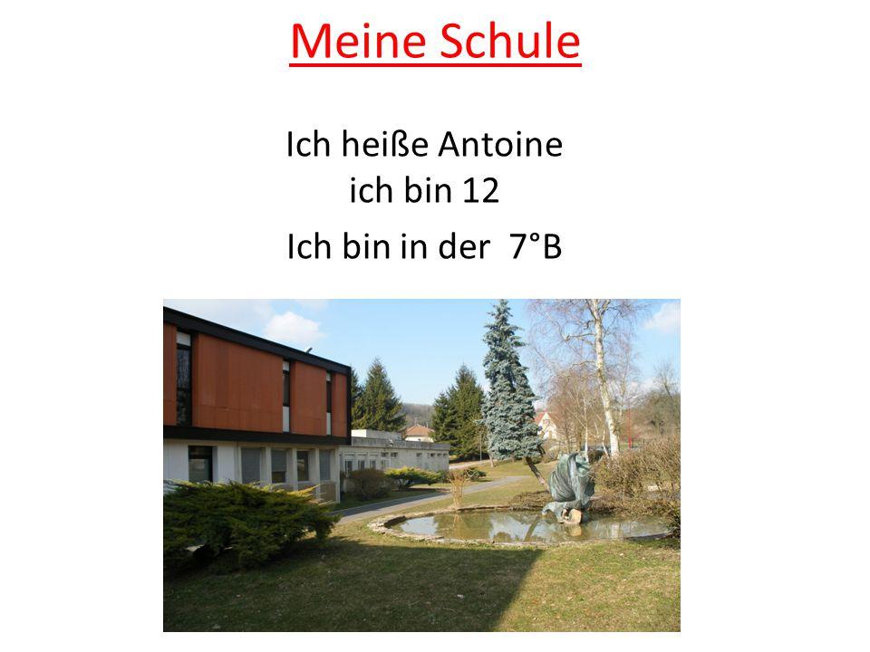 Meine Schule Ich heiße Antoine ich bin 12 Ich bin in der 7°B