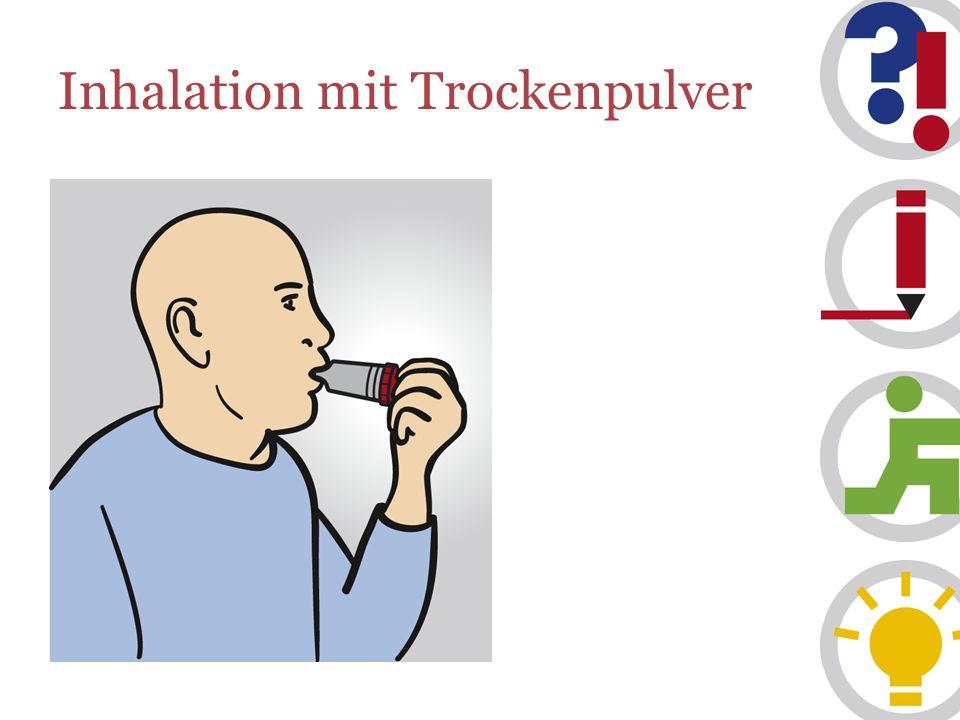 Inhalation mit Trockenpulver