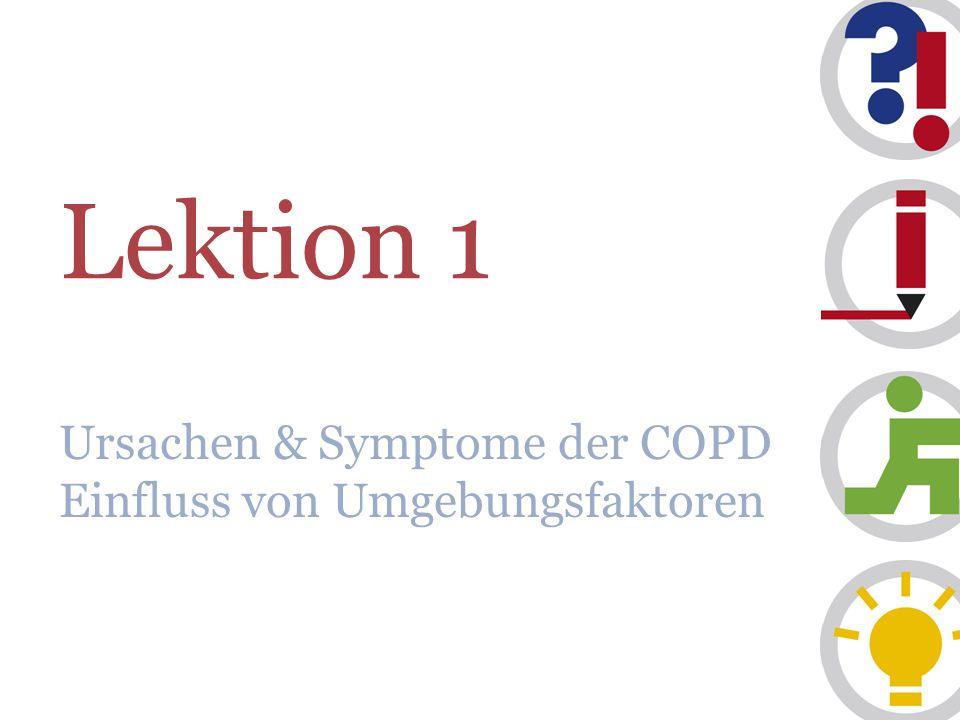 Lektion 1 Ursachen & Symptome der COPD Einfluss von Umgebungsfaktoren