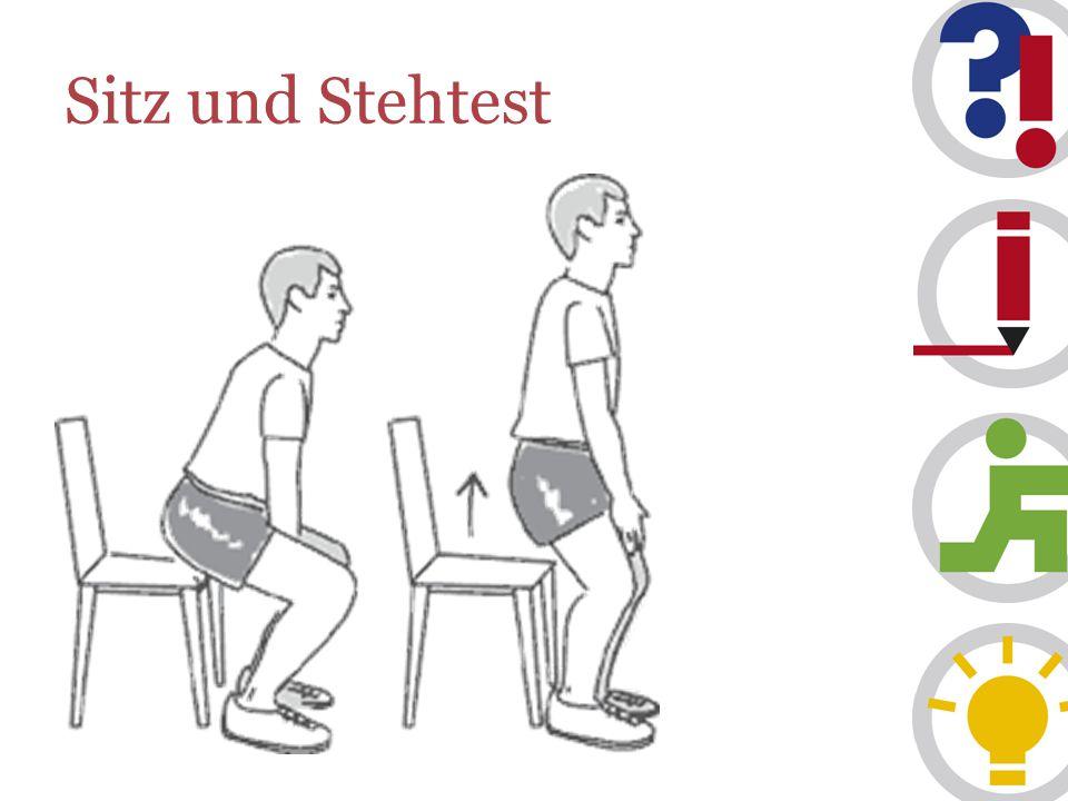 Sitz und Stehtest
