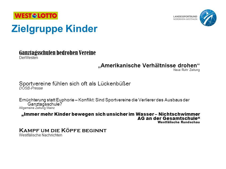 """Zielgruppe Kinder Ganztagsschulen bedrohen Vereine DerWesten """"Amerikanische Verhältnisse drohen"""" Neue Ruhr Zeitung Sportvereine fühlen sich oft als Lü"""