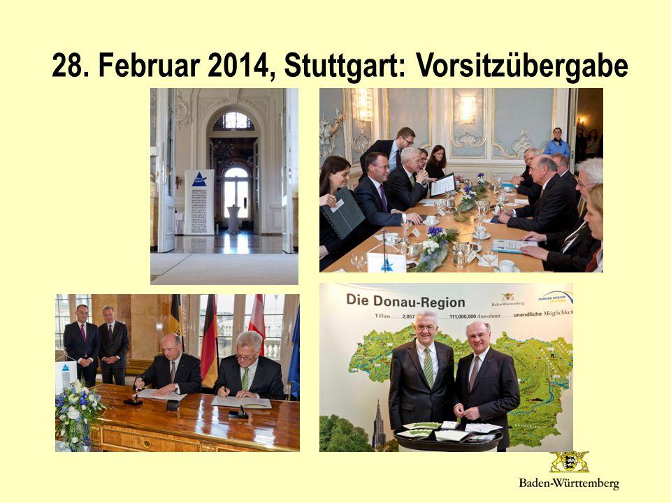 28. Februar 2014, Stuttgart: Vorsitzübergabe