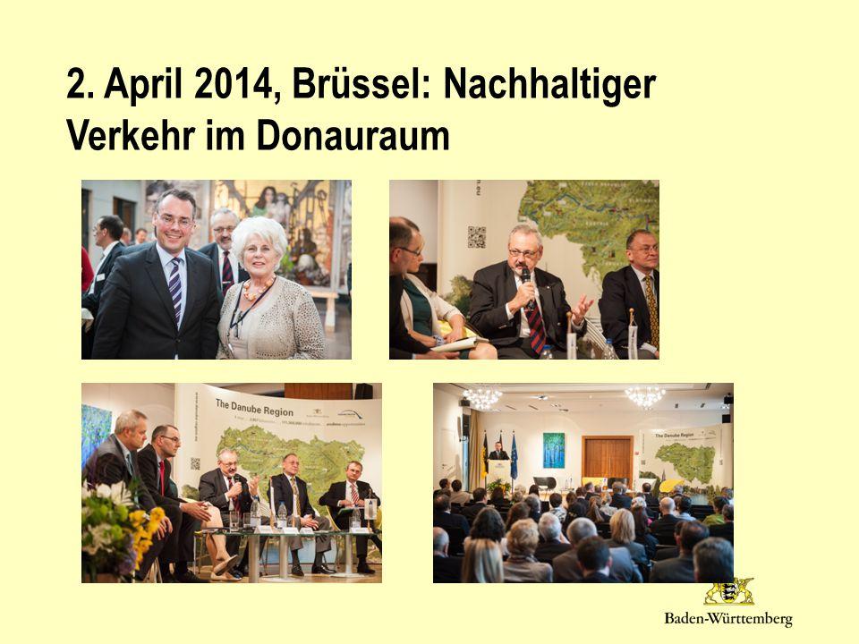 2. April 2014, Brüssel: Nachhaltiger Verkehr im Donauraum