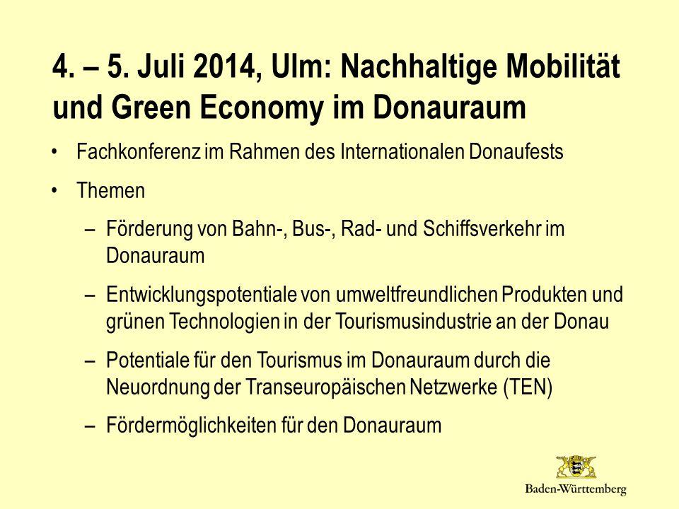 Fachkonferenz im Rahmen des Internationalen Donaufests Themen –Förderung von Bahn-, Bus-, Rad- und Schiffsverkehr im Donauraum –Entwicklungspotentiale