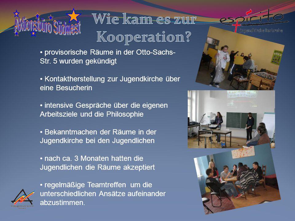 provisorische Räume in der Otto-Sachs- Str.