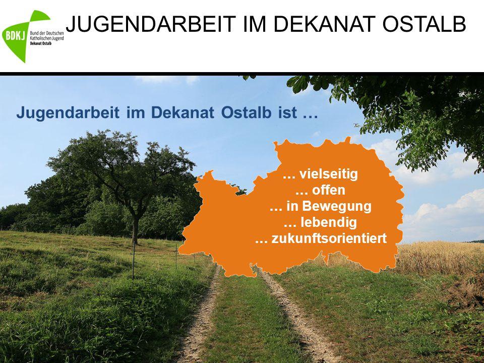 JUGENDARBEIT IM DEKANAT OSTALB Jugendarbeit im Dekanat Ostalb ist … … vielseitig … offen … in Bewegung … lebendig … zukunftsorientiert