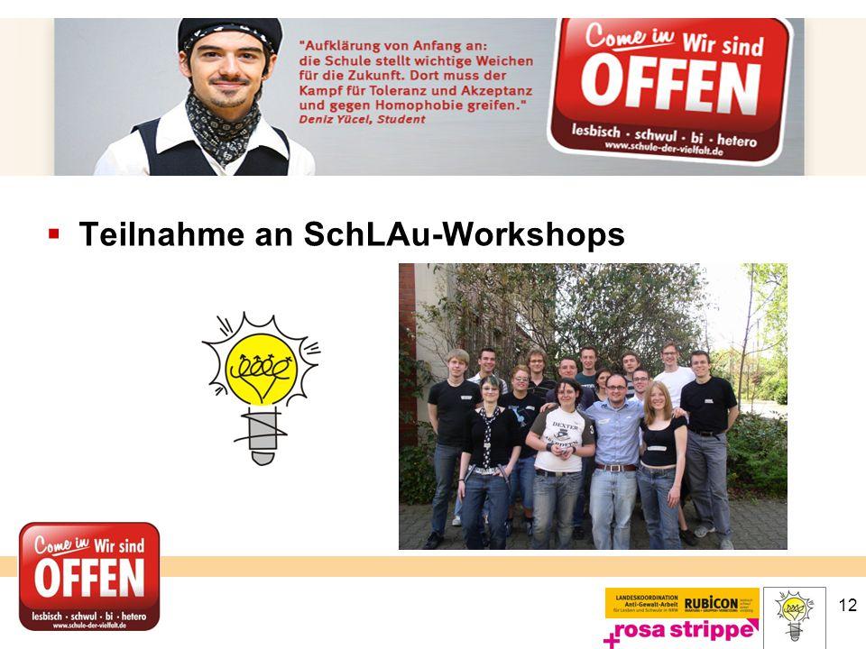 12  Teilnahme an SchLAu-Workshops