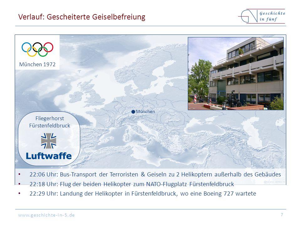 www.geschichte-in-5.de Verlauf: Plan der Geiselbefreiung 8 Tower Boeing 727 BGS-Helikopter Dt.