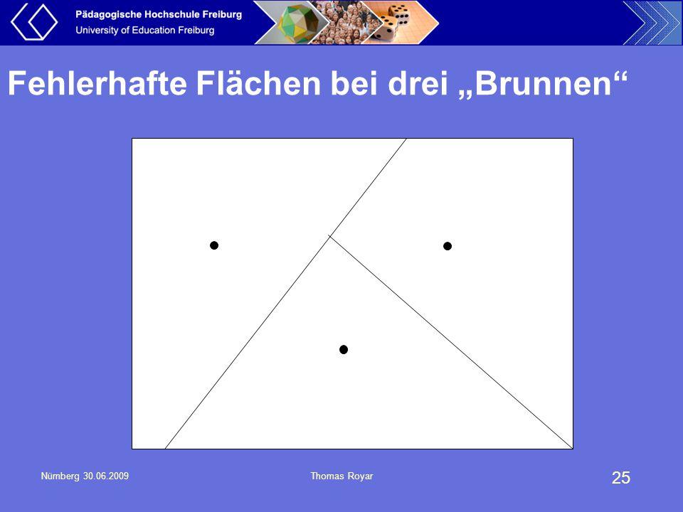 """25 Nürnberg 30.06.2009Thomas Royar Fehlerhafte Flächen bei drei """"Brunnen"""""""