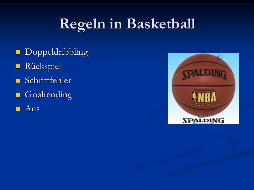 Regeln in Basketball Doppeldribbling Doppeldribbling Rückspiel Rückspiel Schrittfehler Schrittfehler Goaltending Goaltending Aus Aus