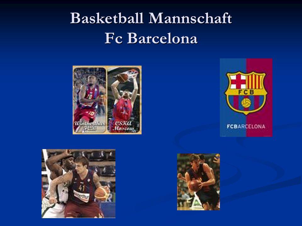 Basketball Mannschaft Fc Barcelona