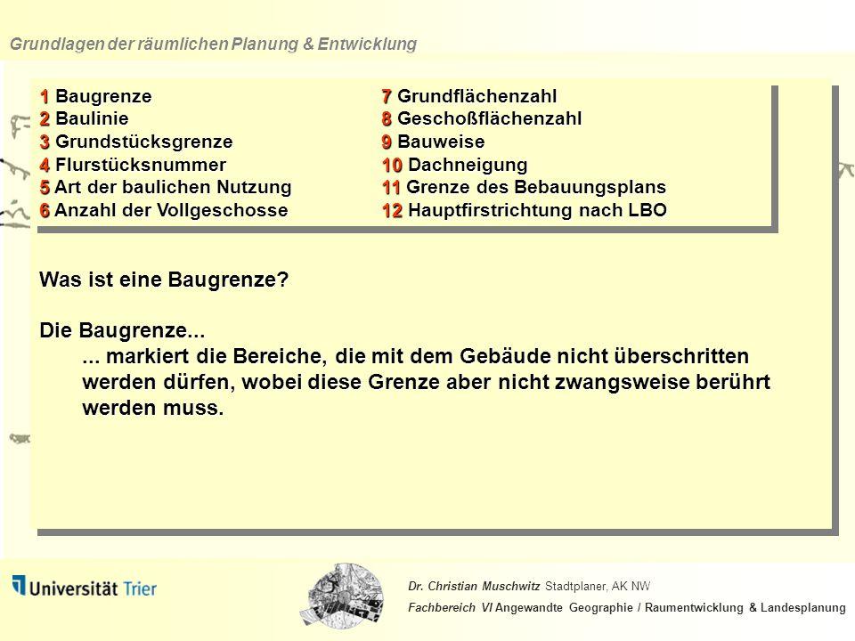Grundlagen der räumlichen Planung & Entwicklung Dr.