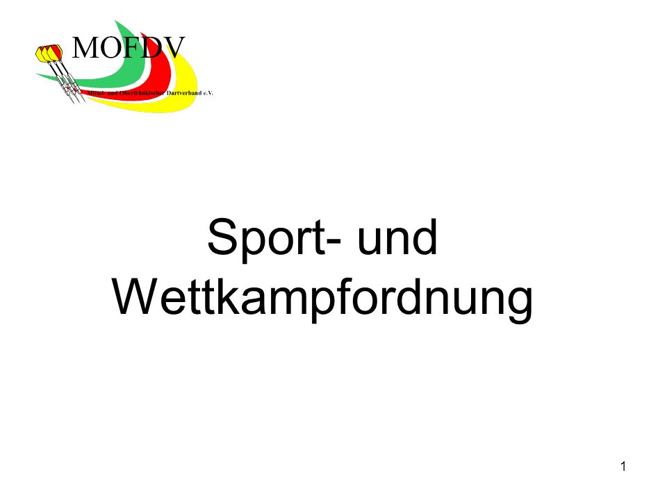 1 Sport- und Wettkampfordnung