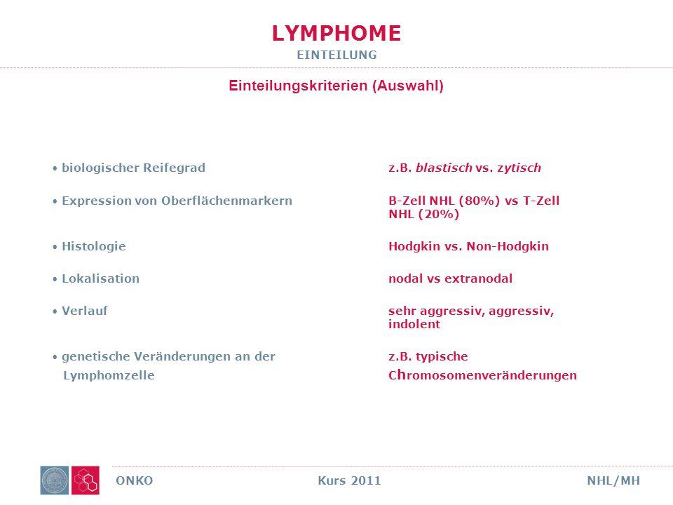 Onko Kurs 2009 NHL/MH 11 IHC GEP Increase in Lymphoma-Entities