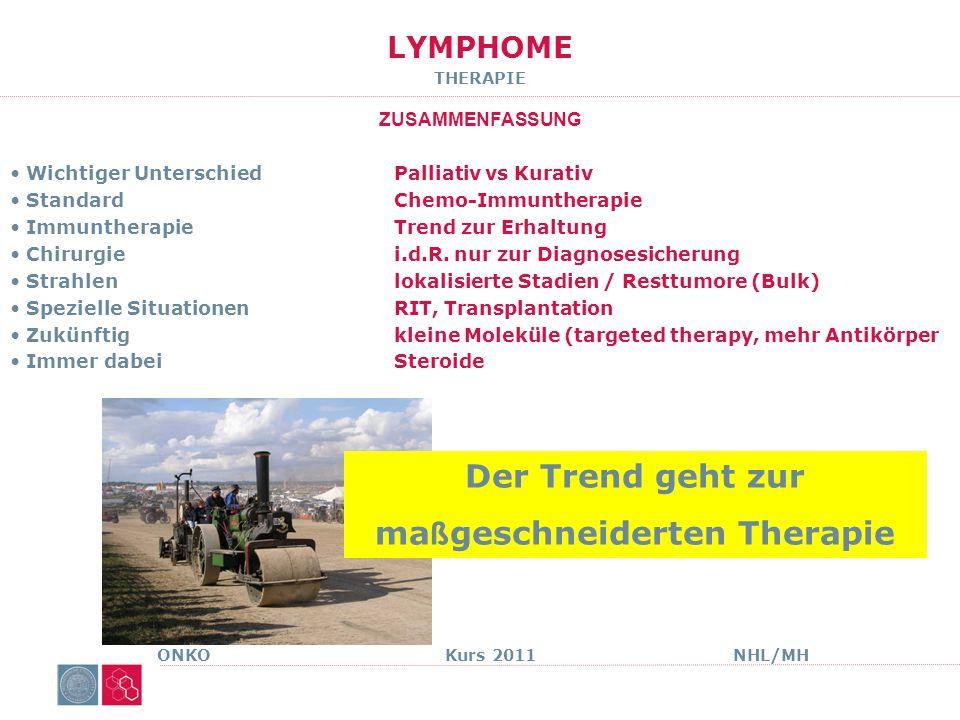 LYMPHOME Morbus Hodgkin ONKO Kurs 2011NHL/MH
