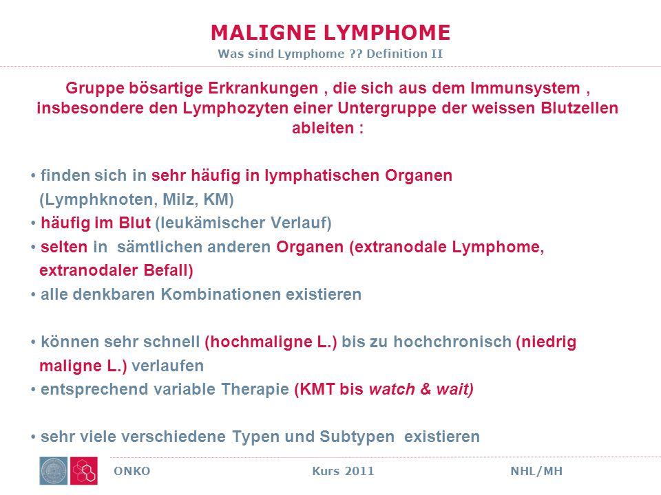 LYMPHOME KLINISCHE BEISPIELE ONKO Kurs 2011NHL/MH