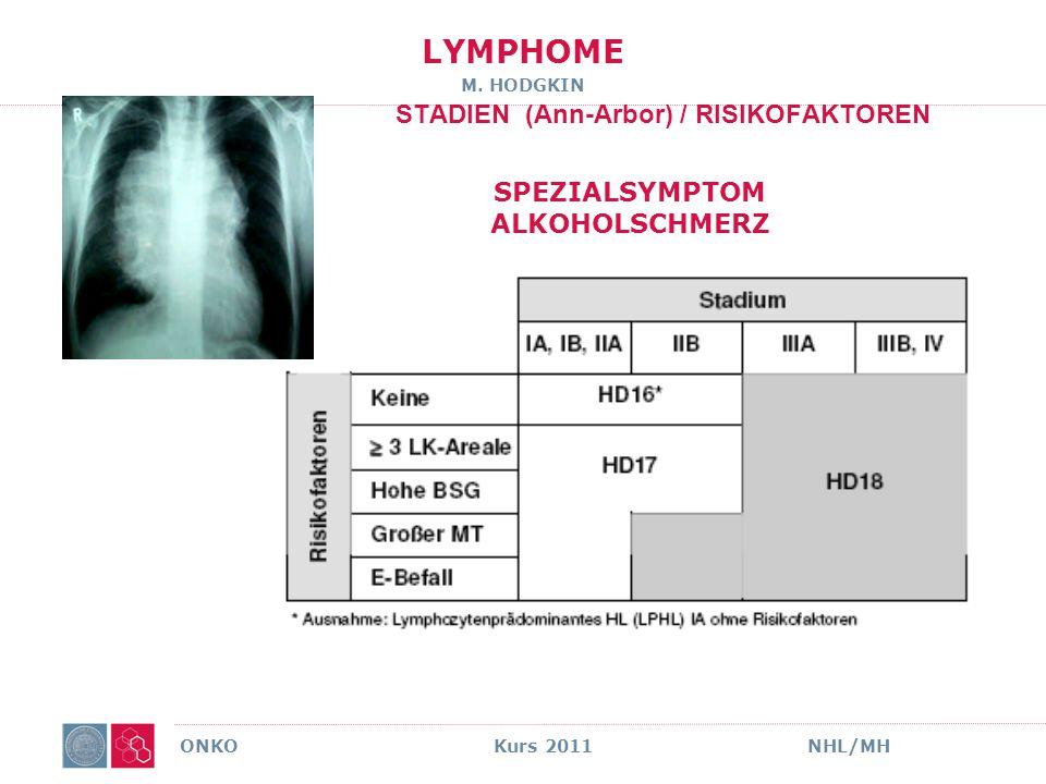 LYMPHOME M. Hodgkin moderne Therapie HD 18 ONKO Kurs 2011NHL/MH