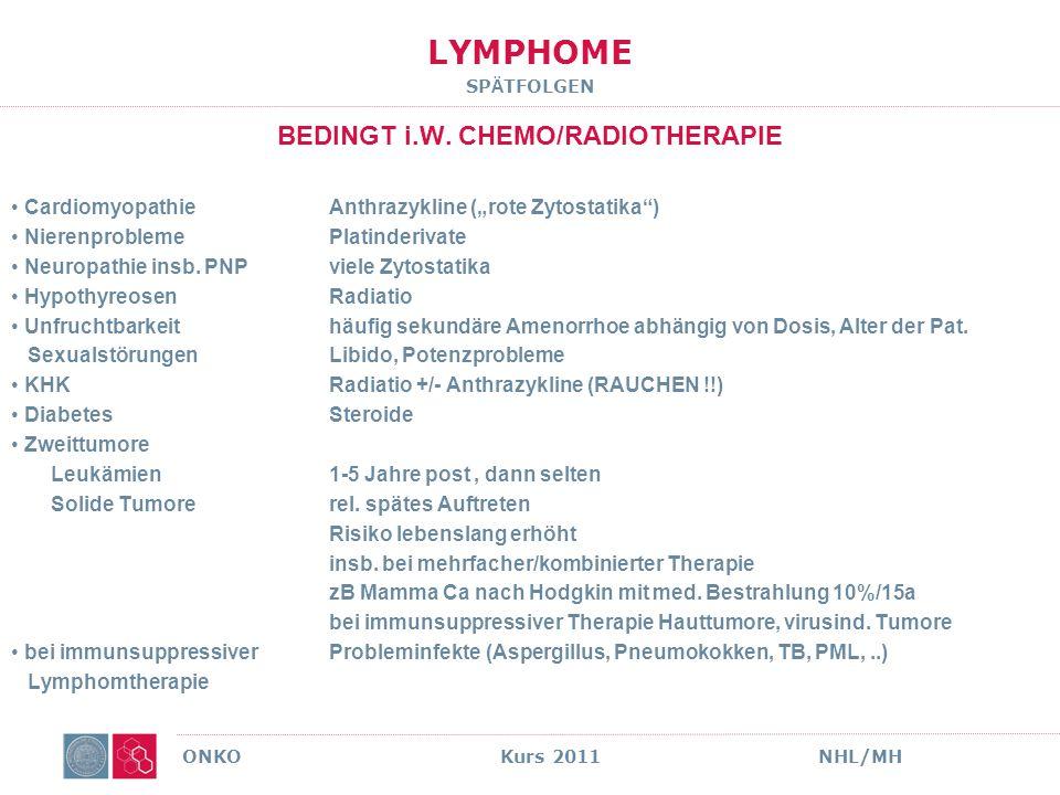 LYMPHOME MULTIPLES MYELOM BASISFAKTEN ONKO Kurs 2011NHL/MH Solly 1844