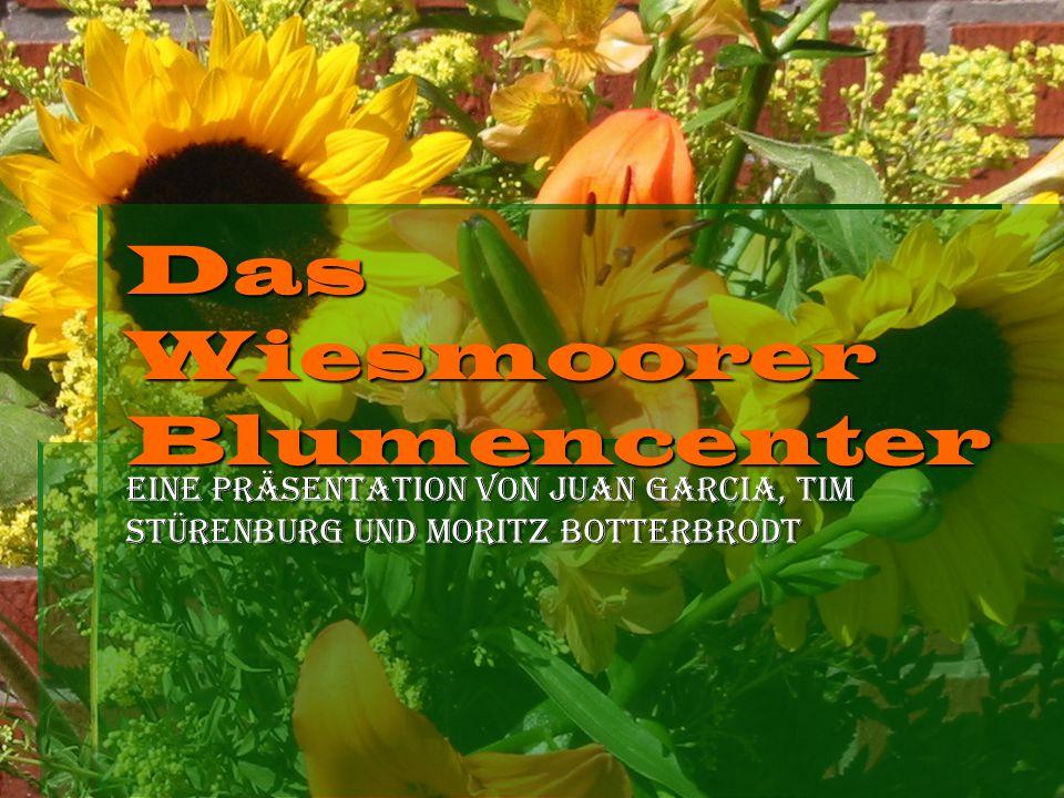 Eine Präsentation von Juan Garcia, Tim Stürenburg und Moritz Botterbrodt Das Wiesmoorer Blumencenter