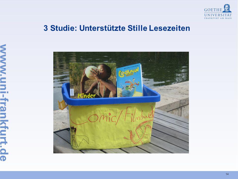14 3 Studie: Unterstützte Stille Lesezeiten