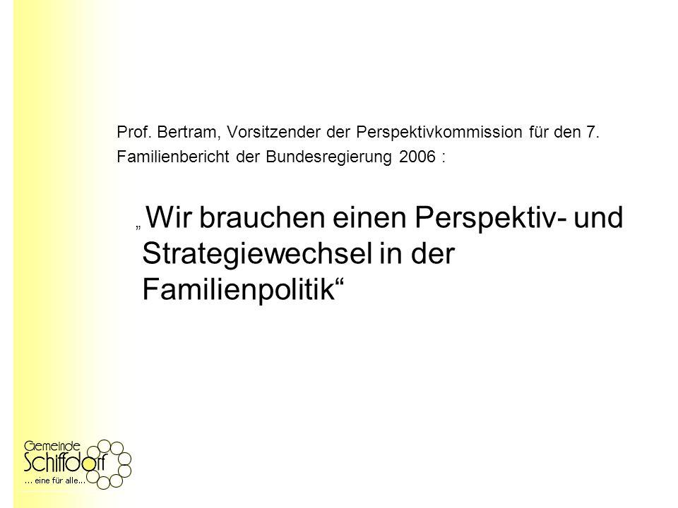 Prof. Bertram, Vorsitzender der Perspektivkommission für den 7.