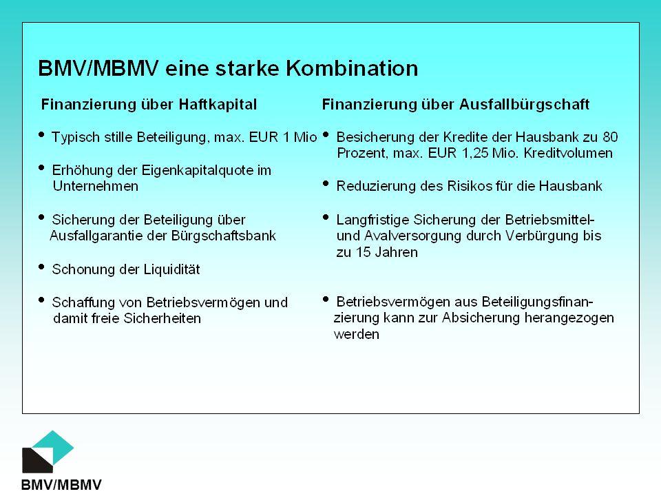 Bürgschaft Stille Beteiligung BMV MBMV Besseres Ratingergebnis Wettbewerbsvorteil hinsichtlich des Preises Einfluss von Bürgschaft und stiller Beteiligung im Ratingprozess der Banken auf das Unternehmen