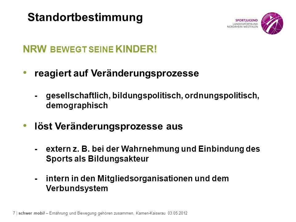 7 | schwer mobil – Ernährung und Bewegung gehören zusammen, Kamen-Kaiserau 03.05.2012 NRW BEWEGT SEINE KINDER! reagiert auf Veränderungsprozesse -gese