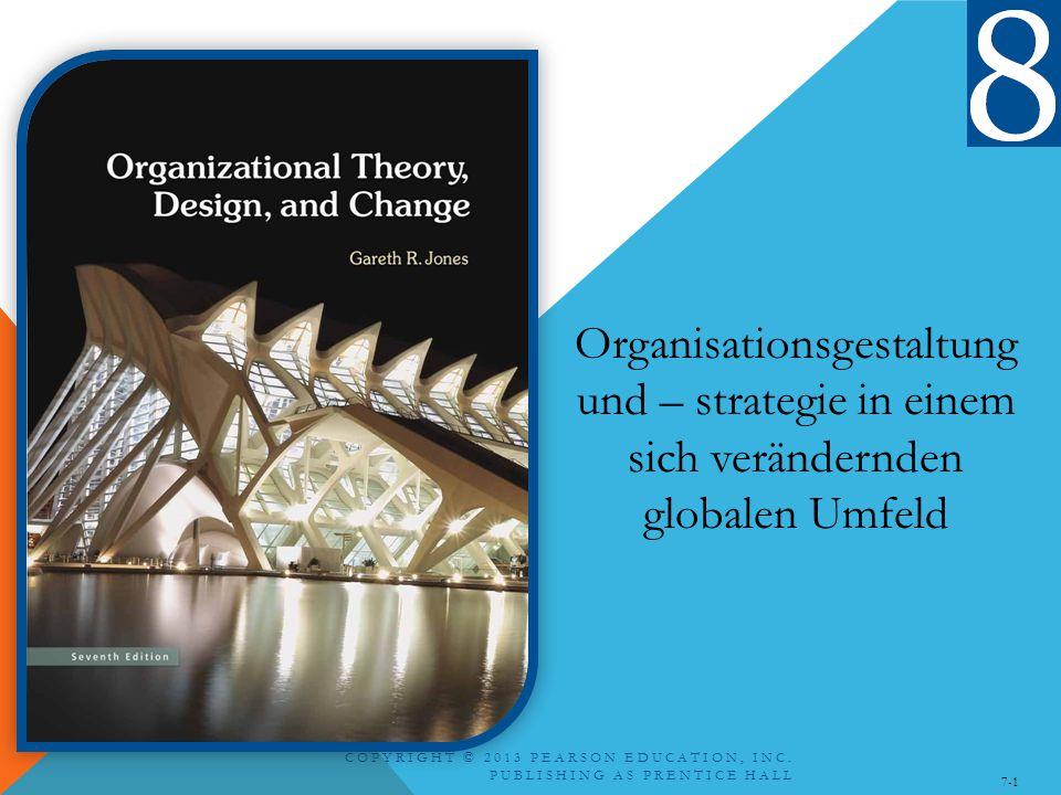 COPYRIGHT © 2013 PEARSON EDUCATION, INC. PUBLISHING AS PRENTICE HALL 7-1 Organisationsgestaltung und – strategie in einem sich verändernden globalen U