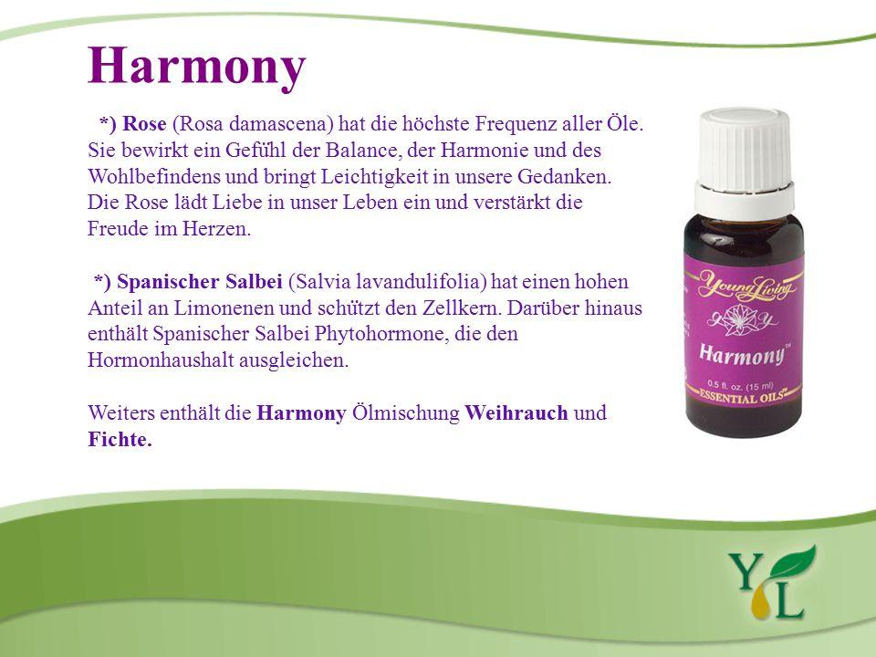 Harmony *) Rose (Rosa damascena) hat die höchste Frequenz aller Öle.