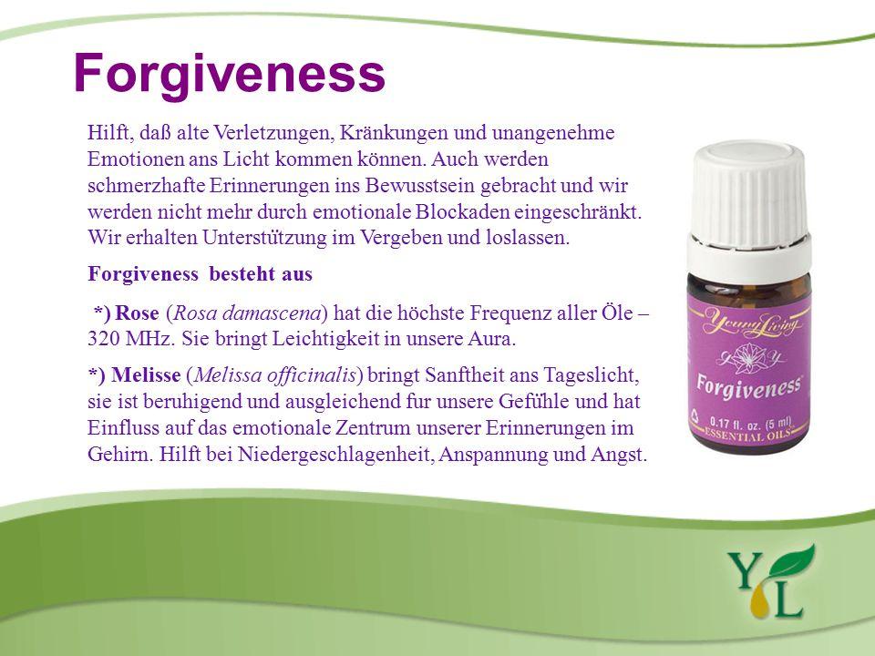 Forgiveness Hilft, daß alte Verletzungen, Kränkungen und unangenehme Emotionen ans Licht kommen können.
