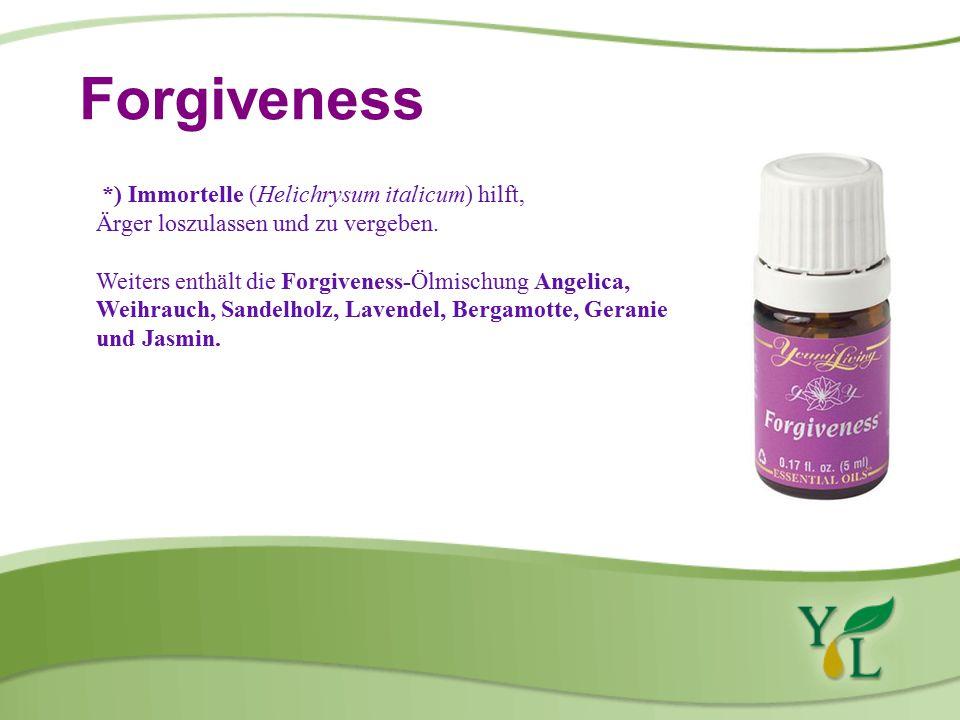 Forgiveness *) Immortelle (Helichrysum italicum) hilft, Ärger loszulassen und zu vergeben.