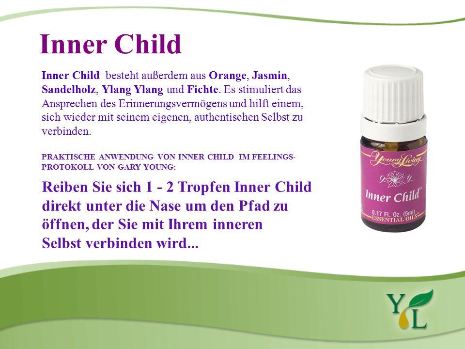 Inner Child Inner Child besteht außerdem aus Orange, Jasmin, Sandelholz, Ylang Ylang und Fichte.