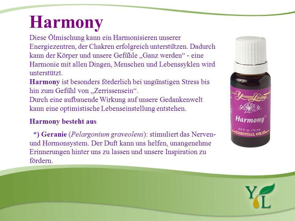 Harmony Diese Ölmischung kann ein Harmonisieren unserer Energiezentren, der Chakren erfolgreich unterstu ̈ tzen.