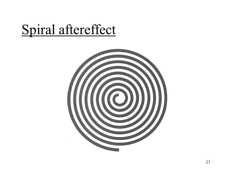 21 Spiral aftereffect