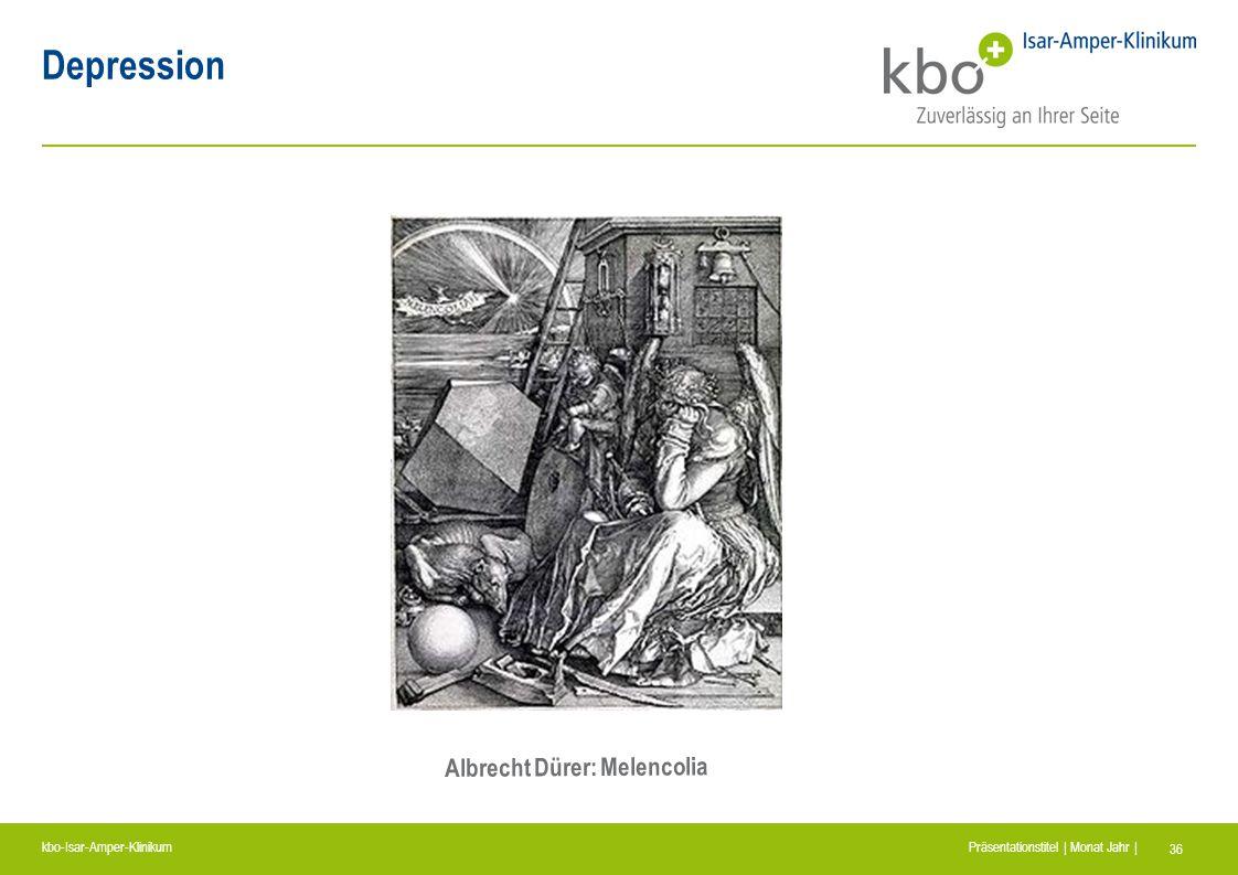 kbo-Isar-Amper-Klinikum Präsentationstitel | Monat Jahr | 36 Depression Albrecht Dürer: Melencolia